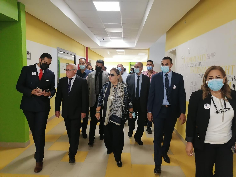 محافظ بورسعيد يشهد طابور الصباح بمدرسة الدكتورة نيرمين اسماعيل الدولية NIS بغرب بورسعيد