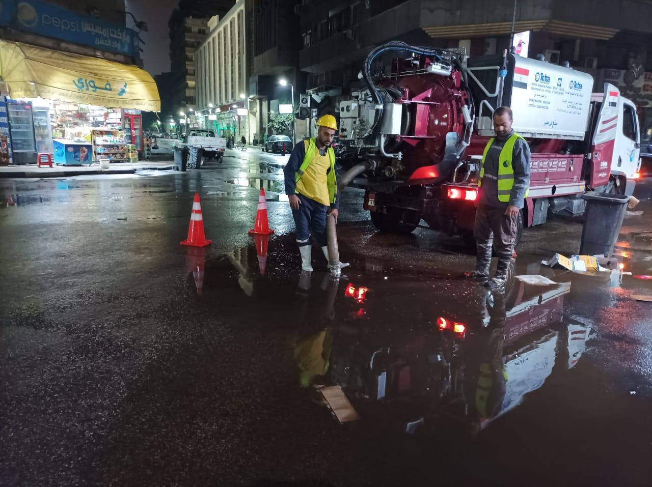 شفط المياه وإصلاح بالوعات الأمطار بالازبكيه