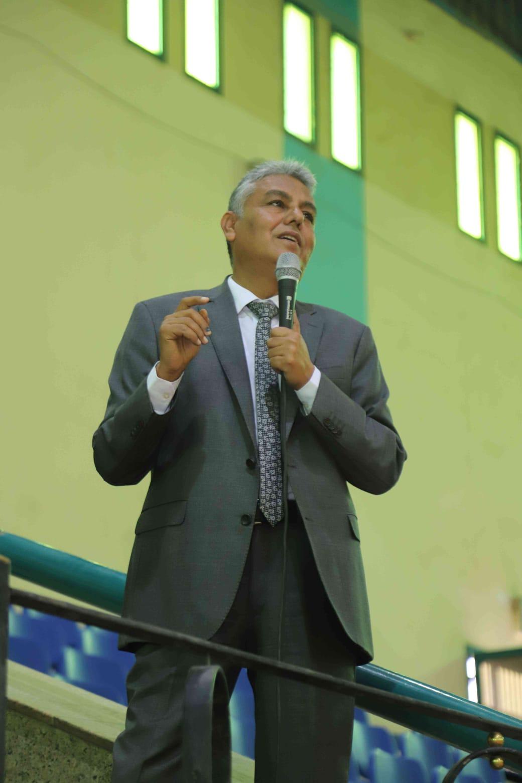رئيس جامعة جنوب الوادى يشهد احتفالية الجامعة بنصر اكتوبر المجيد