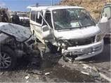 مصرع 17 شخصا فى حادث تصادم سيارة نقل بميكروباص أعلى الدائرى الاوسطي